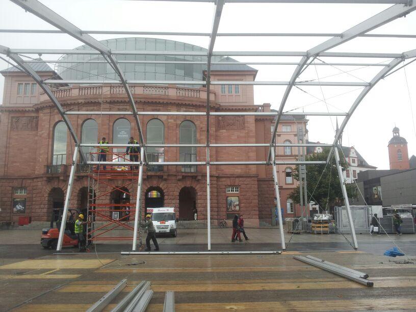 Mainzer Wissenschaftsmarkt 2013, Aufbau