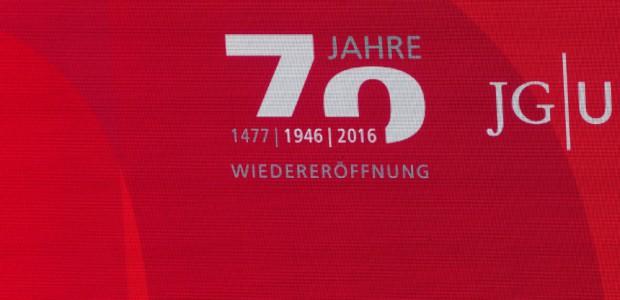 Logoentwicklung 70 Jahre Wiedereröffnung der JGU